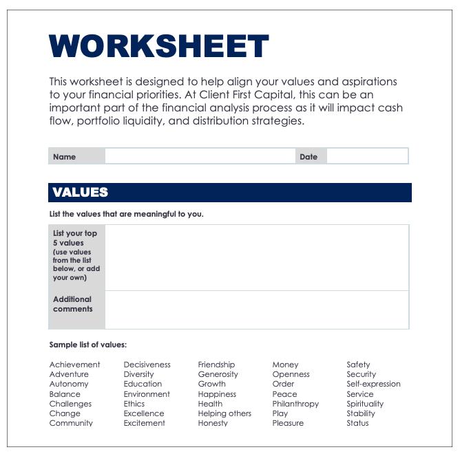 CFC Next Generation Planning Worksheet